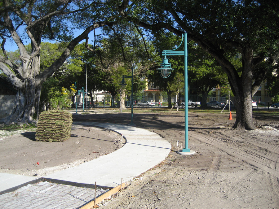 New Light Pole Installation at Lummus Park in Miami
